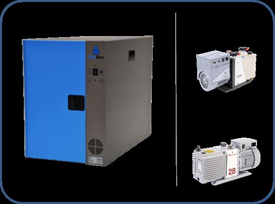caja insonorizada para bombas rotativas de dos fases serie HS o Ds de agilent y serie EM o RV de boc edwards
