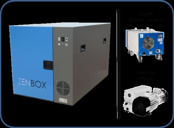 caja insonorizada para bombas de vacío en seco XDS boc edward, triscoll agilent, ev-sa20 o ev-sa30 ebara y sv120bi leybold