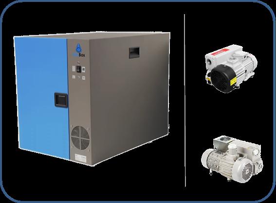 caja insonorizada para bombas de paletas rotativas de una etapa serie SV leybold y serie MS agilent