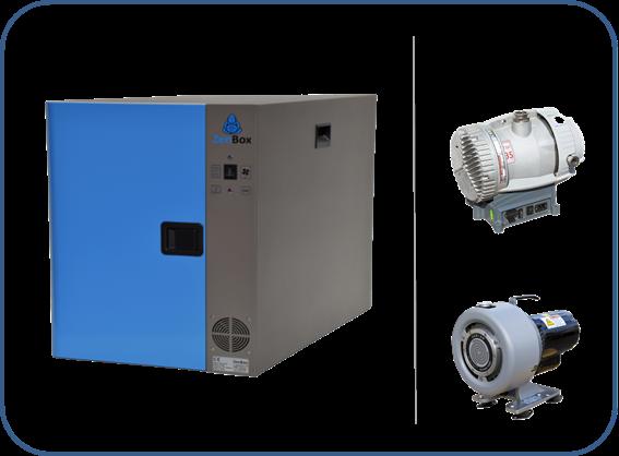 caja insonorizada para bombas de vacío en seco serie XDS boc edwards y serie triscoll agilent