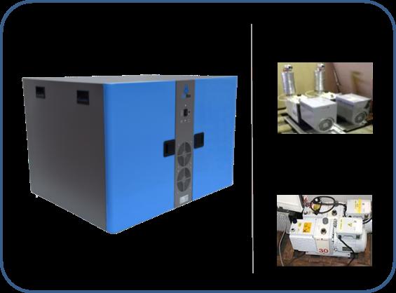 caja insonorizada para dos bombas de paletas rotativas de dos etapas serie HS agilent y serie EM boc edwards