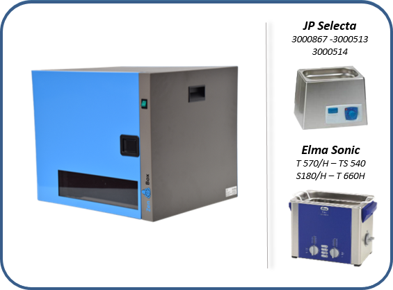 soundproof enclosures for ultrasonic cleaning baths with o without heating