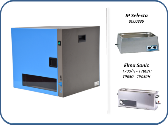 caja insonorizada para baños de limpieza por ultrasonidos con o sin calefacción jp selecta y elma sonic