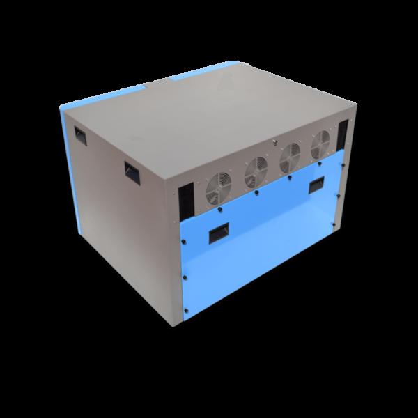 caja insonorizada para dos bomba de vacío