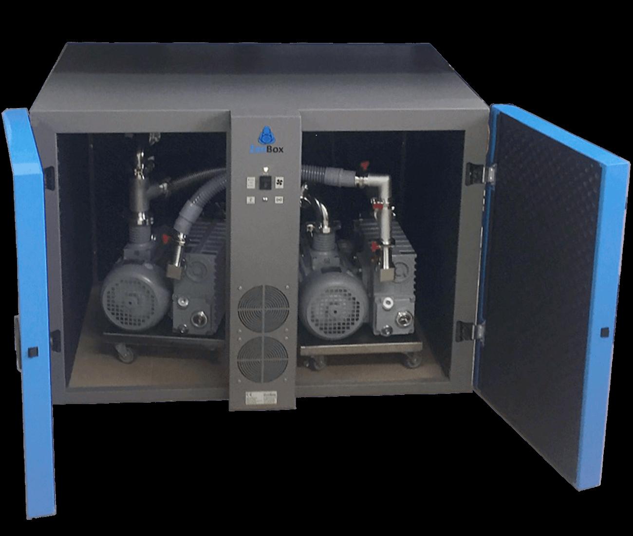 double noise Enclosure for two vacuum pumps