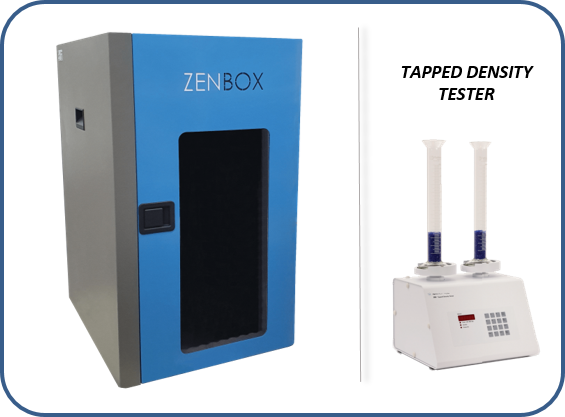 acoustic reduce enclosure for tapped density tester