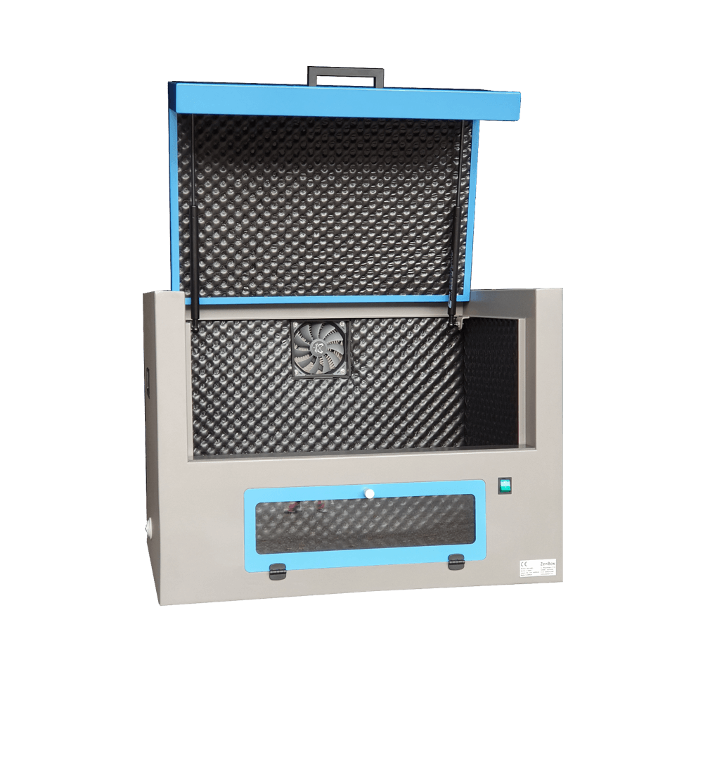 soundproof box for ultrasonic cleaning baths and ultrasonic cleaning baths with heating
