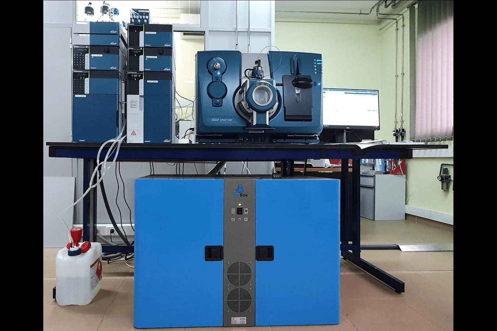 doble soundproof enclosure quiet for two ms40+ vacuum vane pumps absciex qtrap 6500
