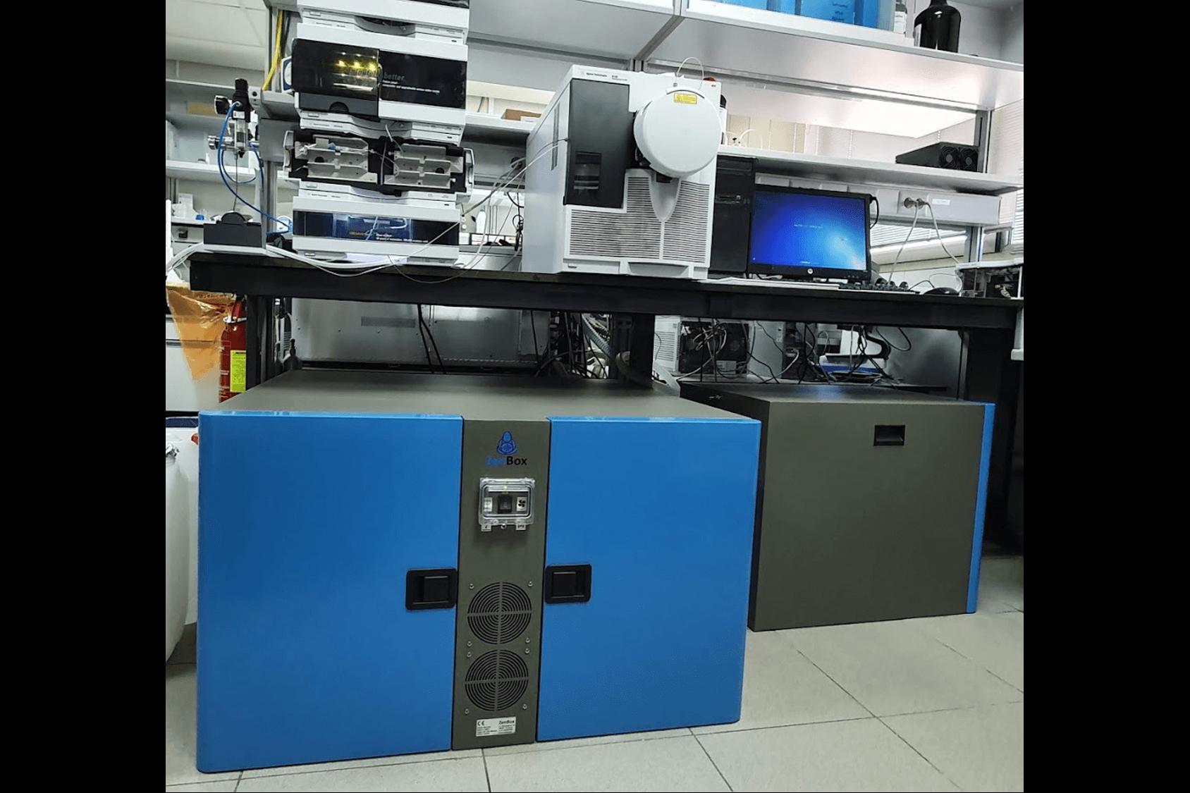 noise reduction enclosure for two agilent triscoll inverter pump