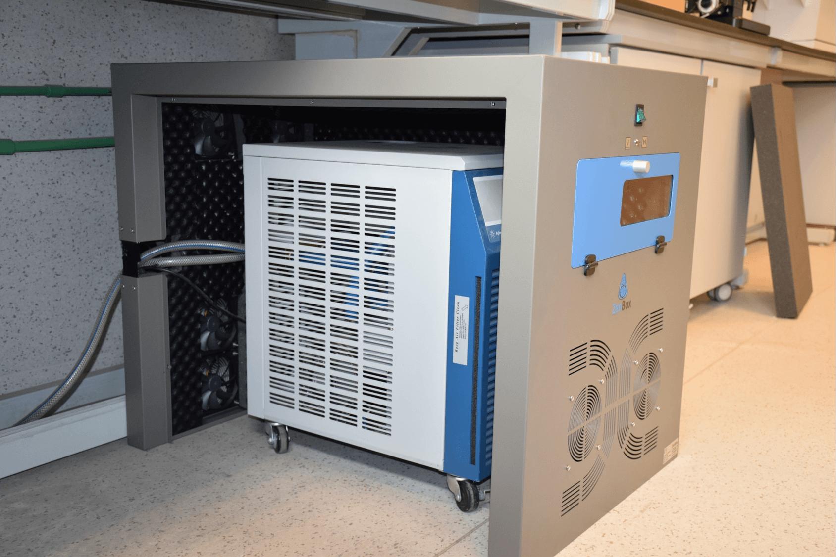 noise reduction enclosure for one agilent G1879b heat exchanger chiller